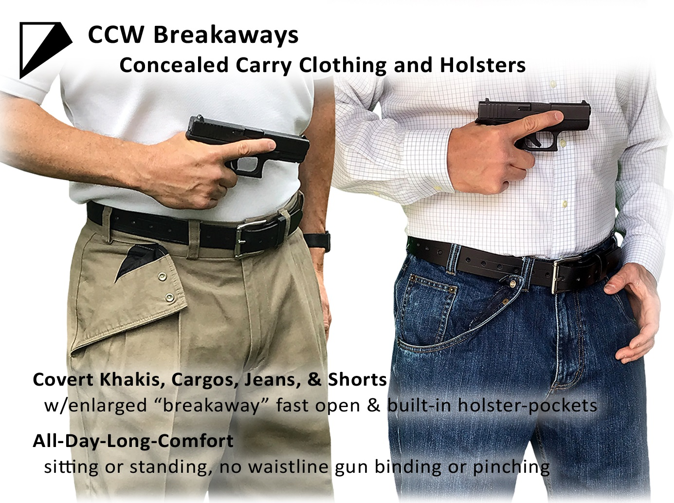 CCW Breakaways Concealed Carry Clothing and Holsters
